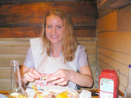 Jennifer at Joe's crab shack