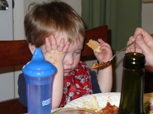 Cooper can't stand Italian food