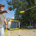 Rich trounces Tedesco guy in cuthroat game of Blongo Ball
