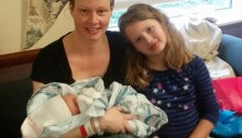 Kristin and Baby Story and Makenna